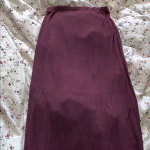 Brandy Melville Maxi Shirt in burgundy